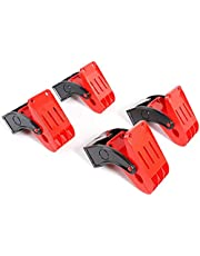 SGCB Premium Heavy Duty Mat Clamps 2.8 Inch, Plastic Hard Chemical Resistant Car Wash Floor Mat Clamps, Anti-Slip Spring Clamp Large Swivel Clamps Hang Your Carpet Mats, Clamp Clips 4 Pack