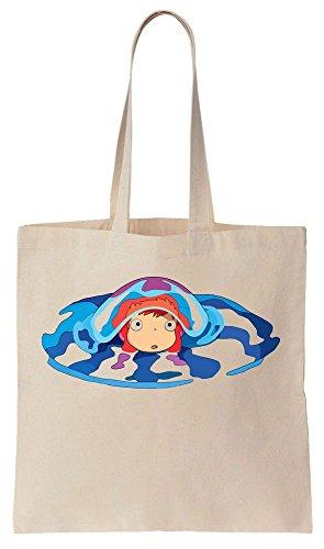 Little Goldfish Ponyo Underwater Design Sacchetto di cotone tela di canapa