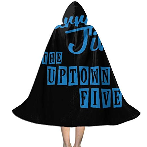 Barry Jive and The Uptown Five High Fidelity Unisex Kids Hooded Cloak Cape Halloween Xmas Party Decoration Role Cosplay Costumes ()