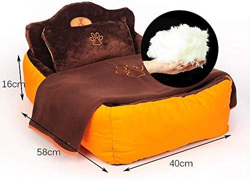 犬用ベッド猫用ベッド小中・大型ペット犬用ベッド猫と犬用寝マットソファ、スポンジバック (Size : L)
