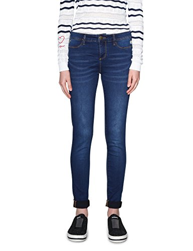 Denim 5161 Dark Denim Bleu Slim Medium Jean Desigual Femme irati OzTO6d