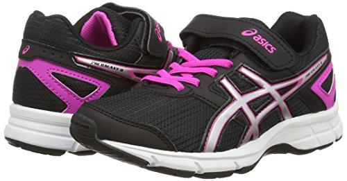 Unisex black Da Bambino silver Glow Scarpe Corsa Asics 8 Ps Galaxy 9093 pink Nero Pre qU8Sw0v