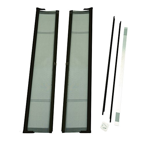 ODL Brisa Premium Retractable Screen Kit for 78 in. Inswing/Outswing Double Doors - Bronze
