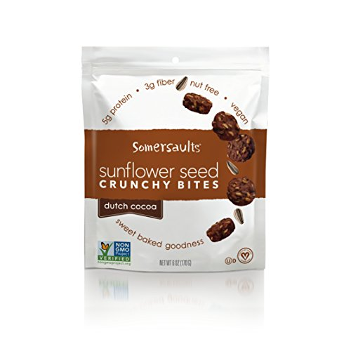 Somersaults Sunflower Seed Bites, Dutch Cocoa, 6 Ounce, 6 Count Review