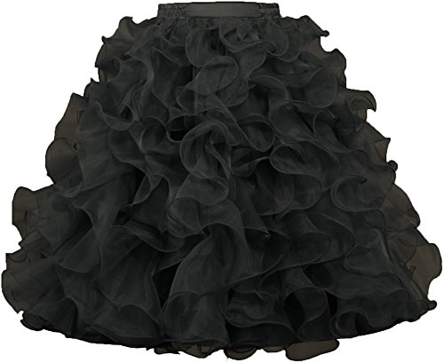 ANTS-Womens-1950s-Vintage-Rockabilly-Organza-Ruffle-Ball-Gown-Petticoat-Skirt