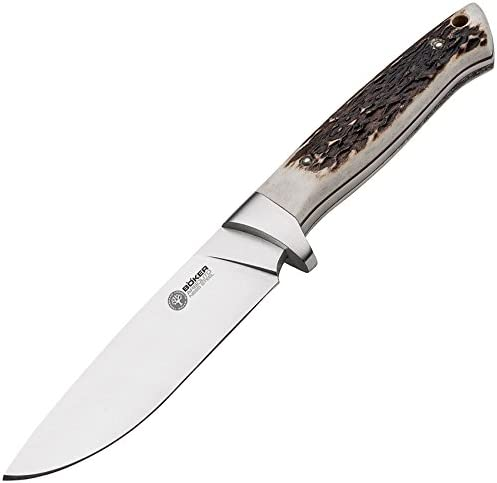 Boker 02BA351H Arbolito Hunter Stag Knife with 4 3 4 in. Steel Blade, Brown