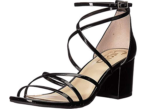 Circus by Sam Edelman Women's Sheila Heeled Sandal, Black Patent, 8.5 M US