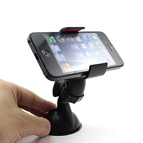 Soporte giratorio de 360 ??grados el sostenedor del soporte del montaje del coche para el iPhone teléfono móvil GPS MP4 PDA accesorios para tabletas: ...