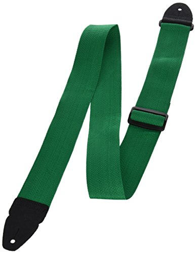 LM Products PS3G 2- Inch Adjustable Guitar Strap, Green