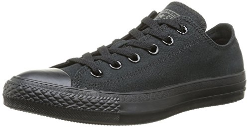 Converse Unisex Chuck Taylor All Star Low Top Monochrome Black Sneakers - 8 B(M) US Women / 6 D(M) US Men (Black 6-8 Men Christmas)