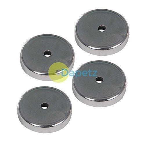 Dapetz ® 4Pk Ferrite Magnet - 7.2Kg Pull Force Capacity Through Hole Mounting M5 Thread