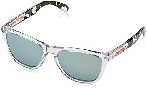 Oakley Men's Frogskins Square Sunglasses, Clear, 55 - Womens Frogskins Oakley