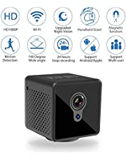 Mini Spy Camera WiFi, Relohas 1080P Spy Hidden Camera Upgraded Night Vision Spy Cam, Portable Nanny Camera with Motion Detection for Home/Office Security and Outdoor