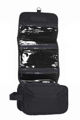 Hanging Toiletry Cosmetics Travel Bag, Black by BAGS FOR LESS