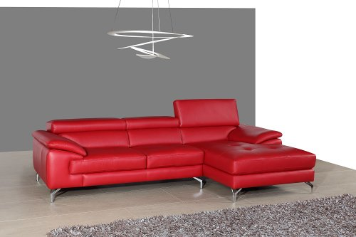 J&M Furniture 179061-LHFC A973b Italian Leather Sectional in Left Hand Facing