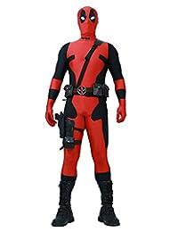 Miccostumes Men's Fullset Deadpool cosplay lycra jumpsuit