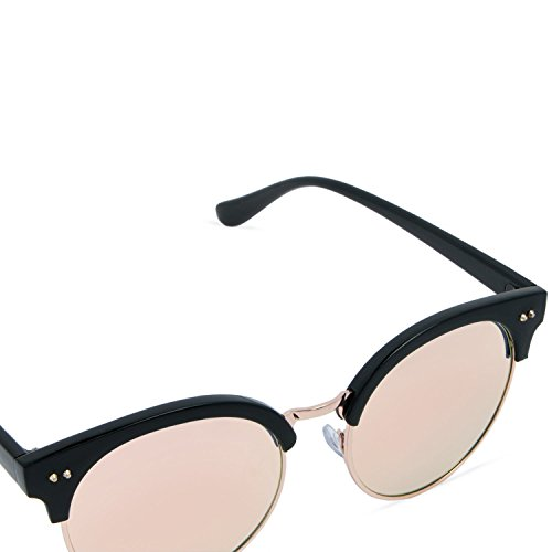 a9ca582c0710e ... Fashion Mio 100 Pink Eyewear Men clubmaster Uv For Woman Protection  Mirrored And Sunglasses IrwOIq ...