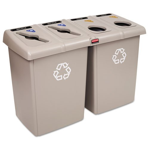 Rubbermaid Commercial Glutton Recycling Station RCP 1792374 by Unknown