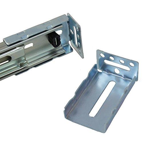 GlideRite Hardware SK35-5 SK-35 Face Frame Rear Mounting Socket Brackets 5 Pack (Rear Mounting Socket)