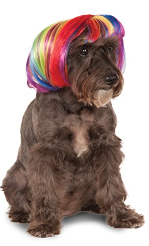 Rubie's Rainbow Bob Wig for Pet, Small/Medium -