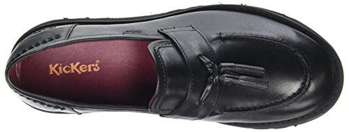 AF Femme Black Loafer Noir Kickers Mocassins Black LTHR Lite PF4qyPwSXt
