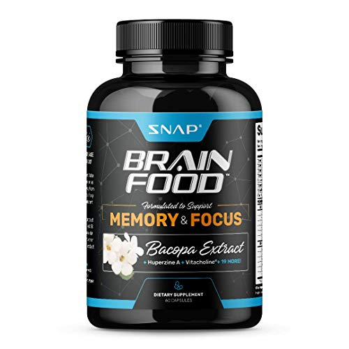 Brain Boost - Nootropics Supplement with Bacopa - Improve Focus, Concentration, and Clarity, Mind Enhancement for Memory & Retention, Increase Mental Speed and Sharpness, DMAE, Ginkgo Bilob - 60 pills