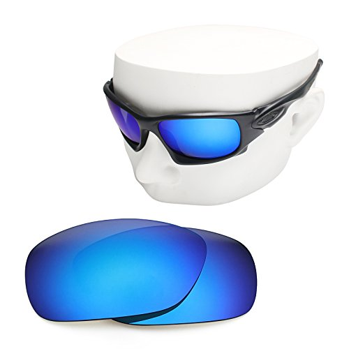 OOWLIT Replacement Sunglass Lenses for Oakley Ten X Blue Mirror - Lenses Oakley Ten