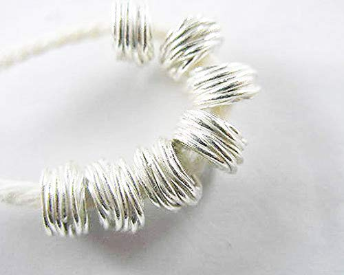 Design Ideas - 6 of Karen Hill Tribe Silver Wire Drum Beads, (HT/6834) - Unique Selection Beads