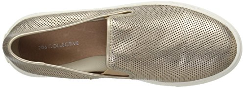 Gold Slip on Women's Perforated 206 Cooper Metallic Leather Perforated Collective Rose Sneaker Fashion zBq4w