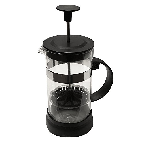French Press Single Serving Coffee Maker, Small Affordable Coffee Brewer with Highest Filtration, 1 Cup Capacity (12 fl oz/0.4 liter) (Black)