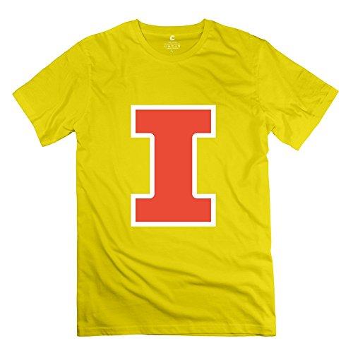 (Illinois Fighting Illini Mens T Shirt Size X-Small Yellow)
