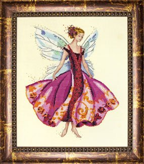 Mirabilia January's Garnet Fairy Counted Cross Stitch (Fairy Pattern)