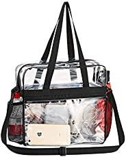 Clear Bag, Clear Tote Bag Stadium Approved, Stadium Security Travel & Gym Clear Bag for Work, Sports Games