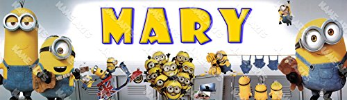 Personalized / Customized Minions #2 Name Poster Wall Decor Door Birthday Art -