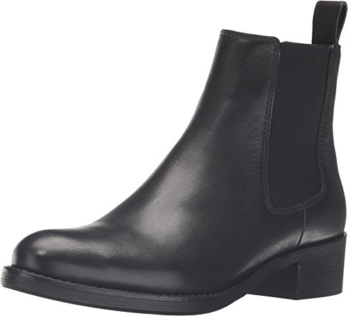 Dune London Women's Peppie Black Leather Boot 39 (US Women's 8) B (M)