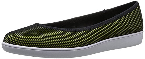 Nine West WomenS Luvintrist Fabric Ballet Flat, Black-Yellow/Black, 39 B(M) EU/7 B(M) UK