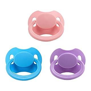 Littleforbig Bigshield Gen-2 Adult Sized Pacifier Dummy Bigshield 3 Paci Pack - Pink, Blue, Lavender