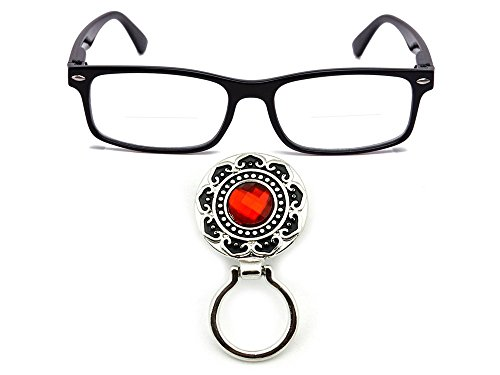 Newbee Fashion - IG Wayfarer Simple Reading Glasses w/ Ruby