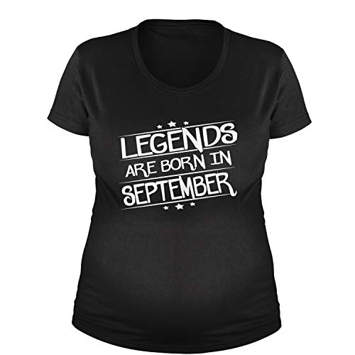 Legends Are Born Maternity in September T-Shirt 3XL Black