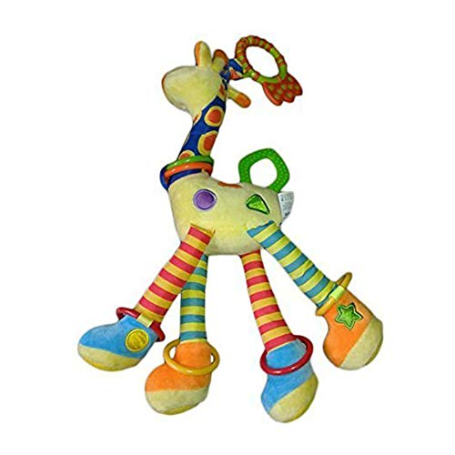 NS Giraffe Baby Plush toyGiraffe Baby Plush Toy Animal Infant Developmental Interactive Toy Soft Development Handbells Rattles Handle Toys