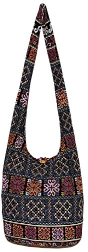 Bohemian Hipster Hobo Boho Hippie Crossbody Shoulder Bag Purse 39'' (Black) by All Best Thing