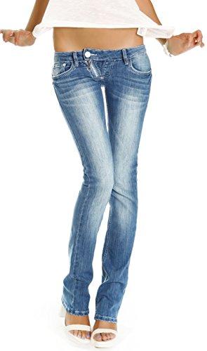 Bestyledberlin Jeans taille basse jeans femme niveau hanches pantalon style low rise j99a Bleu