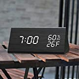 Digital Alarm Clock, with Wooden Electronic LED