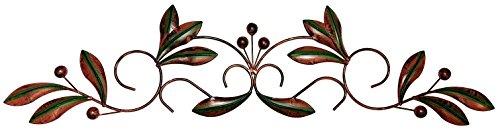 Bellaa 27390 Metal Wall Art Olive Over Door Decor 30 Inch (Door The Above Art)