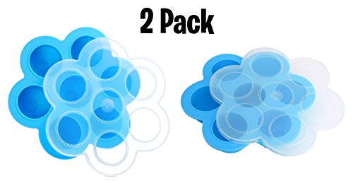 2 Pack Blue Silicone Egg Bites Molds for Instant Pot Accesso