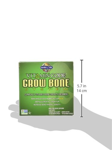 Garden of Life Raw Calcium Supplement - Vitamin Code Grow Bone System Whole Food Vitamin with Strontium, Vegetarian by Garden of Life (Image #9)