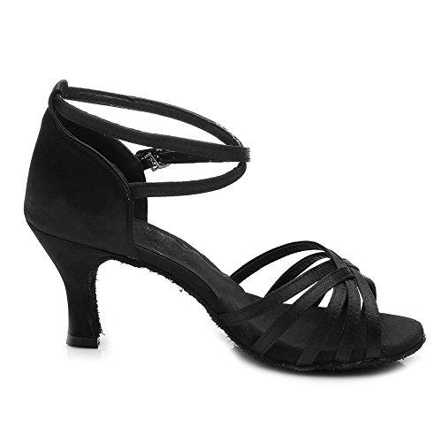 Modle Classique Chaussures 7 Cm De Latine Talon Ukqu213 Danse Hipposeus Noir qIdHXxwI
