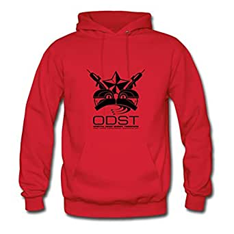 Elegentclothing Women Odst Unit Emblem Print Sweatshirts (x-large,red)