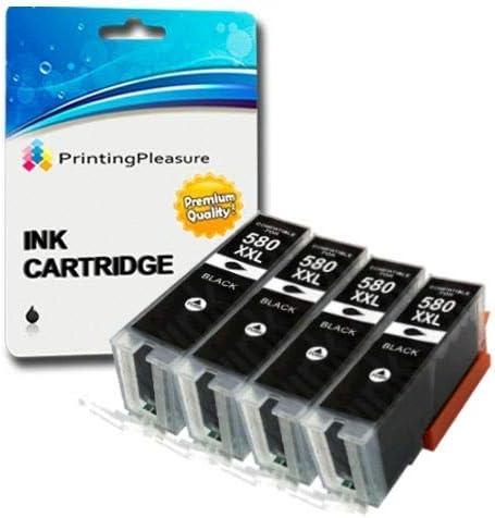 4 Xxl Pigment Schwarz Premium Pgi 580xxl Pgbk Druckerpatronen Für Canon Pixma Tr7550 Tr8550 Ts6150 Ts6151 Ts8150 Ts8151 Ts8152 Ts9150 Ts9155 Pgi 580pgbk Xxl Bürobedarf Schreibwaren