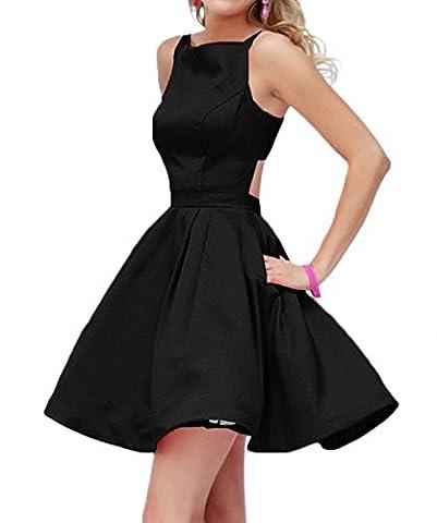Raniwish 2017 Hot Homecoming Graduation Dress for Juniors Short Prom Ball Gown-4-Black - Hot Sexy Black Formal Dress